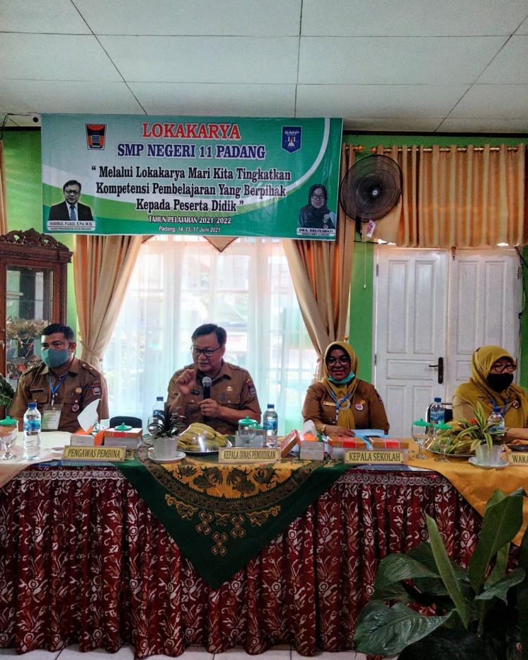 Lokakarya SMP Negeri 11 Padang